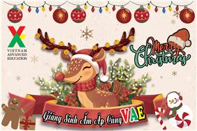 Enjoy wonderful Christmas with adorable students at Ngoại Ngữ VAE